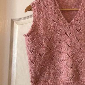 Vintage Pink Sweater Vest